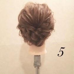 くるりんぱとロープ編みで作る☆簡単まとめ髪アレンジトップ