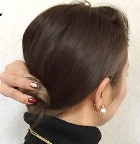 ミディアムだってまとめ髪!簡単色っぽお団子☆3