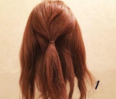 ボリューム感が華やかな編み下ろしアレンジ♡ (1)