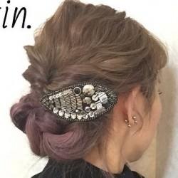 For ミディアムヘアさん♡くるりんぱ×三つ編みdeまとめ髪TOP
