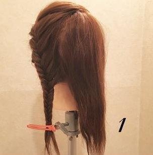 髪を伸ばしたくなる!ガーリー編み込みアレンジ♡1