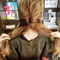 ふわふわ三つ編みでつくる♪可愛さ抜群のまとめ髪スタイル (3)