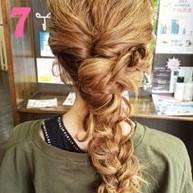 ふわふわ三つ編みでつくる♪可愛さ抜群のまとめ髪スタイル (7)
