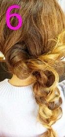 後ろ髪美人!三つ編みでつくるまとめ髪☆6