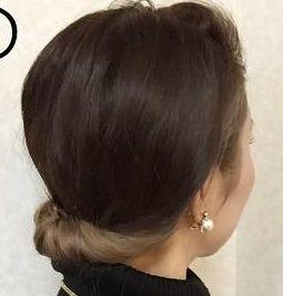 ミディアムだってまとめ髪!簡単色っぽお団子☆2