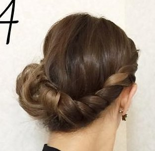 前髪の長い方向け!オシャレロープ編み4