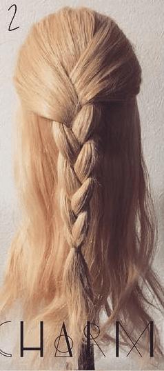 三つ編み×ロープ編みでシンプルこなれアレンジ☆2