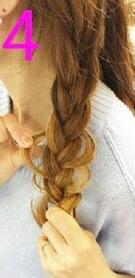 後ろ髪美人!三つ編みでつくるまとめ髪☆4