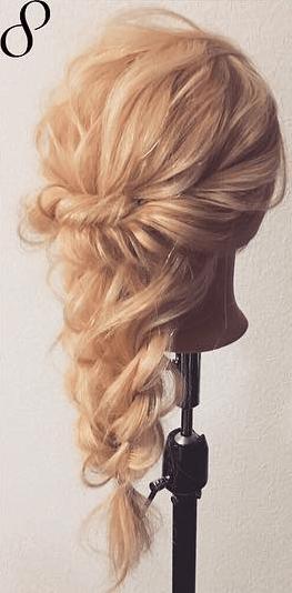 ツイスト編み×ロープ編みで華やかパーティーヘア☆top
