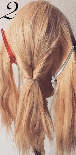 明るい髪色に似合う!透け感まとめ髪☆3