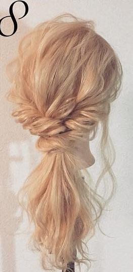 明るい髪色に似合う!透け感まとめ髪☆8