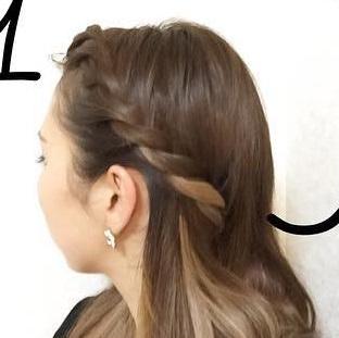 前髪の長い方向け!オシャレロープ編み1