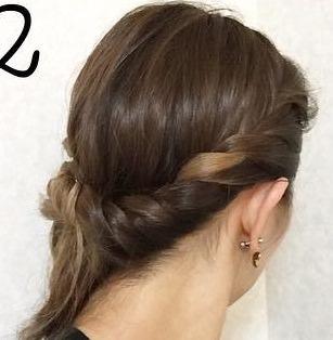 前髪の長い方向け!オシャレロープ編み2