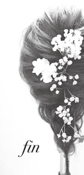 造花が可愛い♪シンプルくるりんぱfin