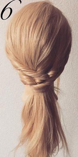 明るい髪色に似合う!透け感まとめ髪☆6