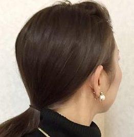 ミディアムだってまとめ髪!簡単色っぽお団子☆1