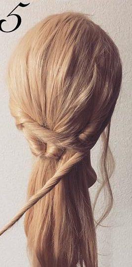 明るい髪色に似合う!透け感まとめ髪☆5