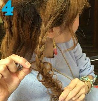 これぞ垢抜けヘア!三つ編みでつくるまとめ髪☆4