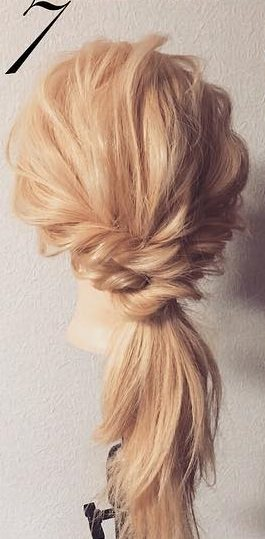 明るい髪色に似合う!透け感まとめ髪☆7