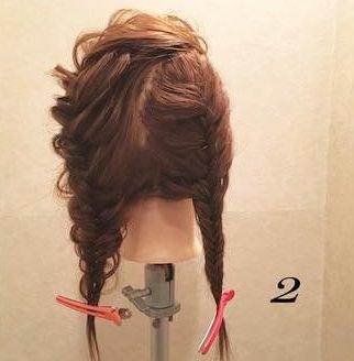 髪を伸ばしたくなる!ガーリー編み込みアレンジ♡2