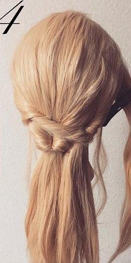 明るい髪色に似合う!透け感まとめ髪☆4