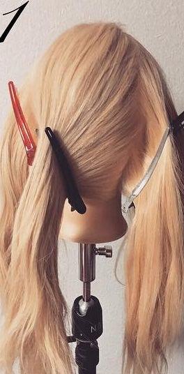明るい髪色に似合う!透け感まとめ髪☆1