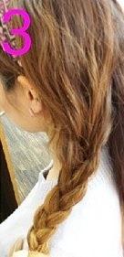 後ろ髪美人!三つ編みでつくるまとめ髪☆3