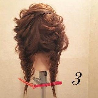 髪を伸ばしたくなる!ガーリー編み込みアレンジ♡3