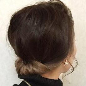 ミディアムだってまとめ髪!簡単色っぽお団子☆TOP