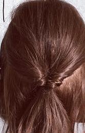 くるりんぱとロープ編みで簡単☆お洒落まとめ髪1