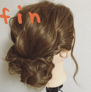 くるりんぱのふんわりまとめ髪☆fin