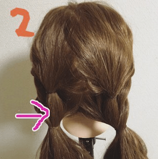 くるりんぱのふんわりまとめ髪☆2