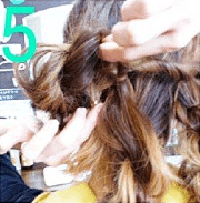 ねじねじだけでできる!☆簡単キレイなまとめ髪5
