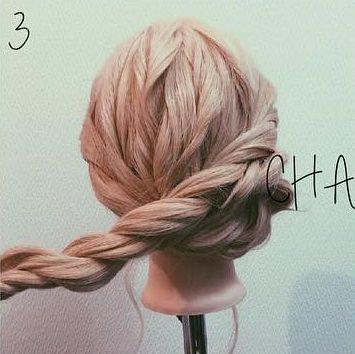 ロープ編みでできる!立体感が上品なまとめ髪3