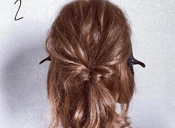 くるりんぱとロープ編みで簡単☆お洒落まとめ髪2