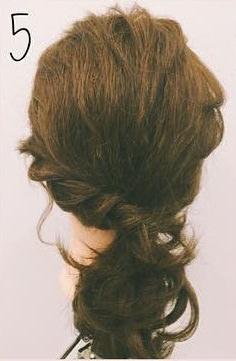 ミディアムヘアにぴったりのロープ編みローポニテ♪5