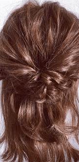 くるりんぱとロープ編みで簡単☆お洒落まとめ髪4