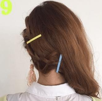 三つ編みで簡単編み込み風アレンジ☆9