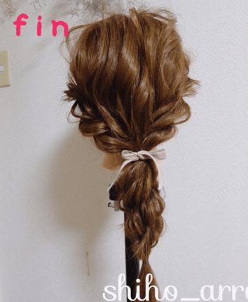 ロープ編み×編みおろしアレンジtop