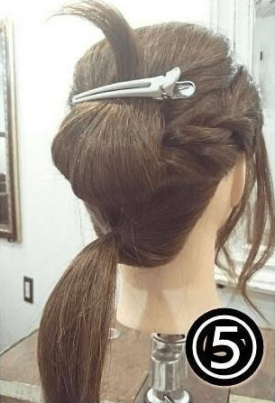 逆りんぱでまとめ髪♪やわらか大人スタイル!5