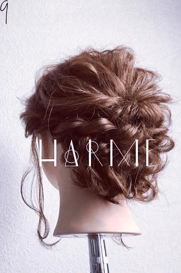 くるりんぱとロープ編みで簡単☆お洒落まとめ髪9