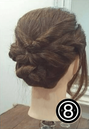 逆りんぱでまとめ髪♪やわらか大人スタイル!8