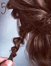 くるりんぱとロープ編みで簡単☆お洒落まとめ髪5