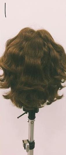 ミディアムヘアにぴったりのロープ編みローポニテ♪1