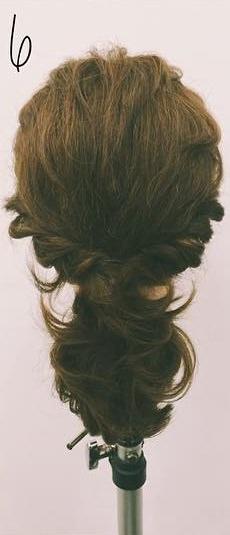 ミディアムヘアにぴったりのロープ編みローポニテ♪6