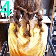 ねじねじだけでできる!☆簡単キレイなまとめ髪4