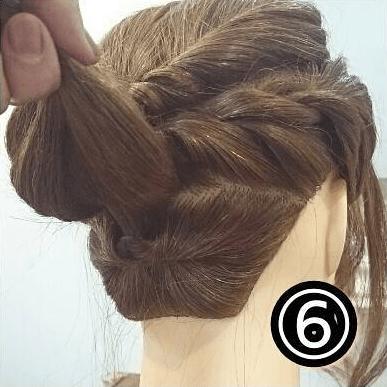 逆りんぱでまとめ髪♪やわらか大人スタイル!6