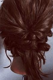 くるりんぱとロープ編みで簡単☆お洒落まとめ髪7