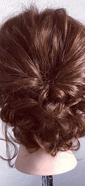くるりんぱとロープ編みで簡単☆お洒落まとめ髪8