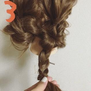 くるりんぱのふんわりまとめ髪☆3